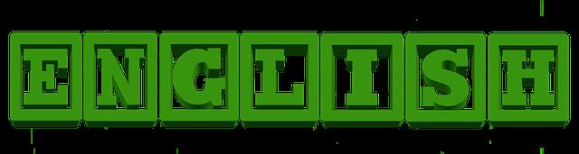 green block letters